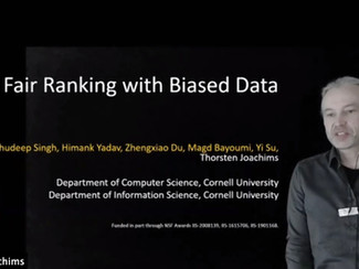 Fair Ranking with Biased Data - Interview with Thorsten Joachims