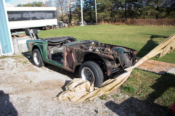 The First TR6 in the horde