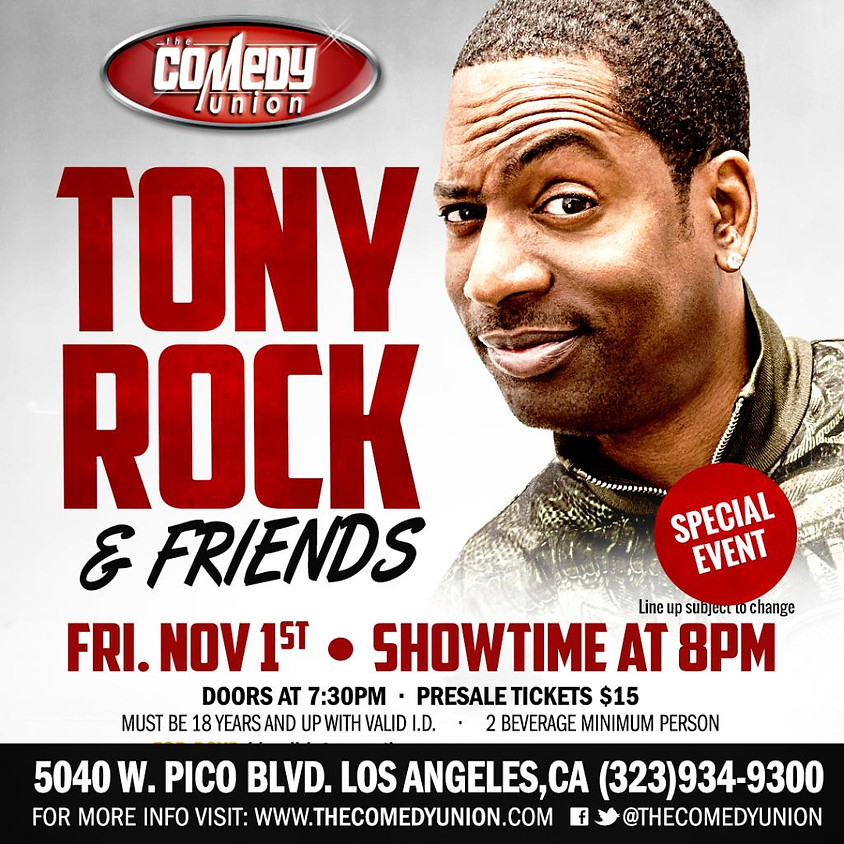 *SPECIAL EVENT* TONY ROCK & Friends Comedy Show - 8:00 PM