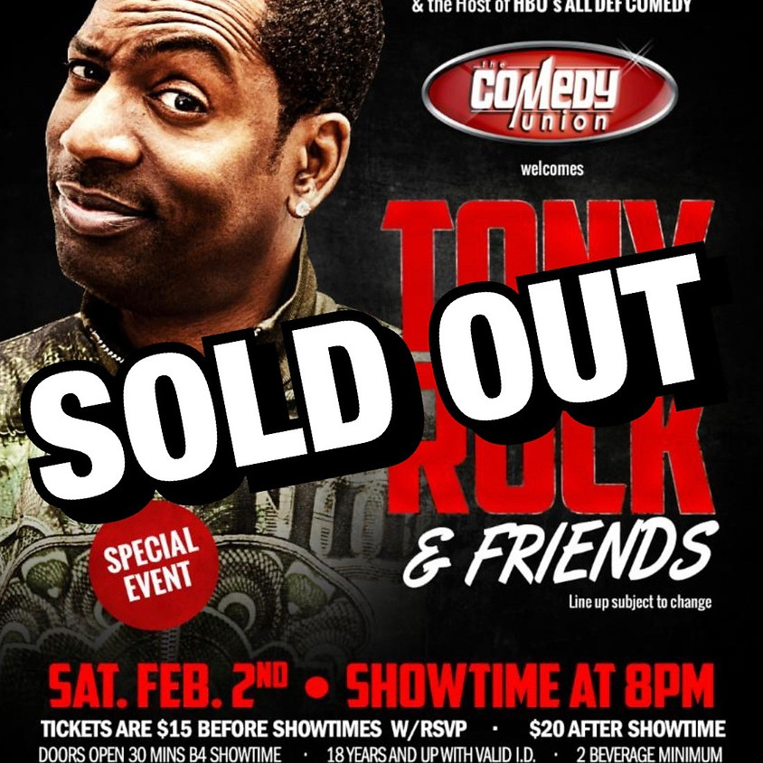 General RSVP: TONY ROCK & Friends Comedy Show - 8:00 PM
