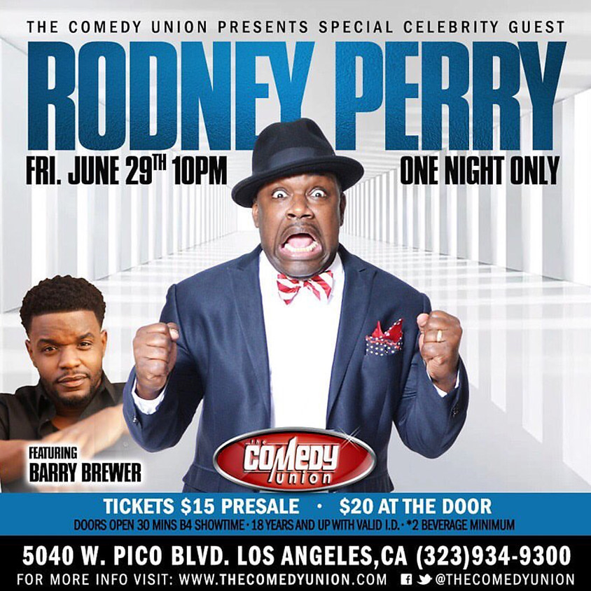 *SPECIAL EVENT* RODNEY PERRY - ONE NIGHT ONLY (GENERAL RSVP OPTION ONLY -PRESALE TICKETS HAVE NOW ENDED)