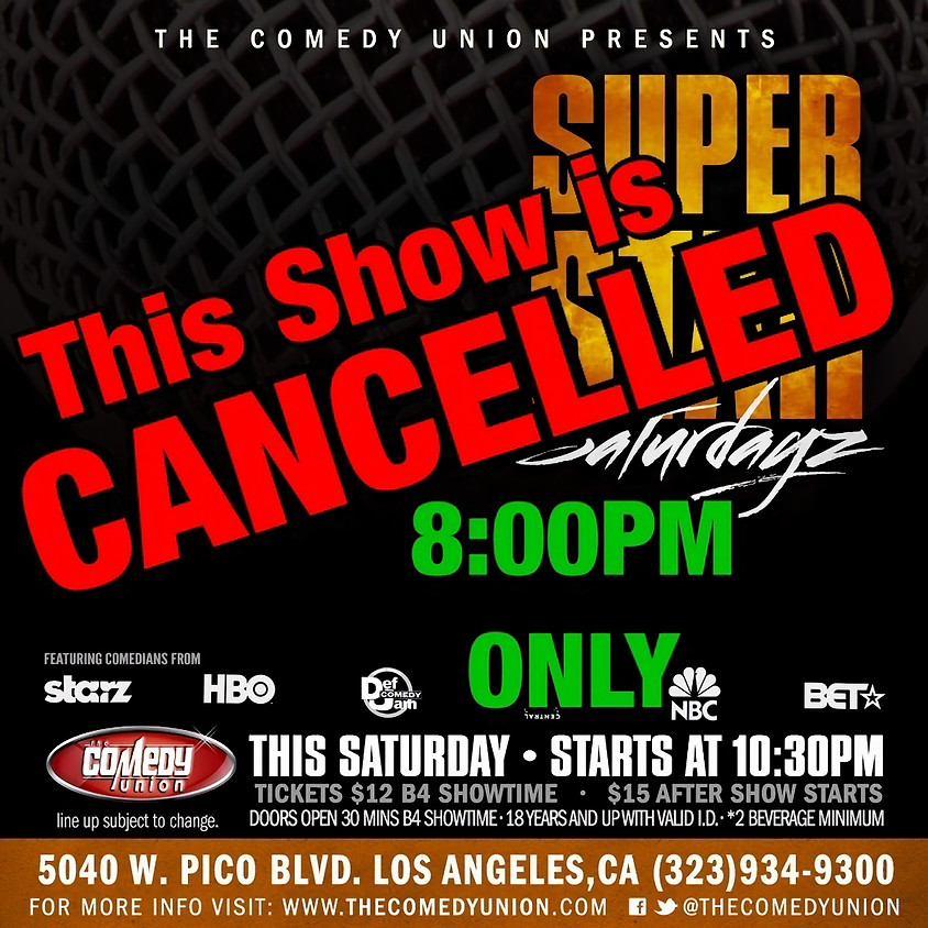 CANCELLED - 10:30 PM