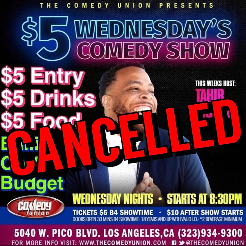 CANCELLED - $5 Wednesday's