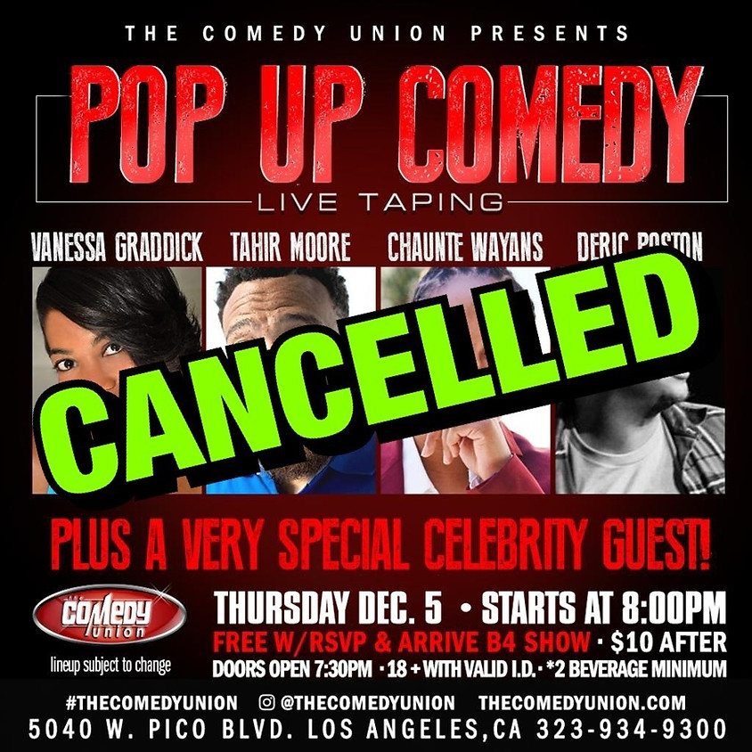 *CANCELLED* Pop Up Comedy Live Taping!