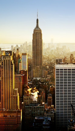 USA: New York - Empire State, Statue of Liberty, Rockefeller Centre.
