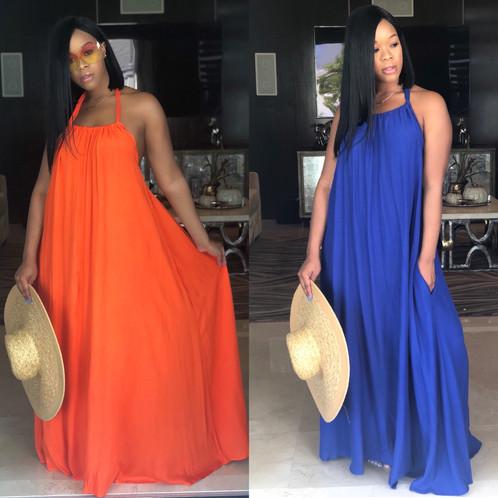 "cdf147f16f1 The ""Summer Vibes"" Halter Maxi Dress"