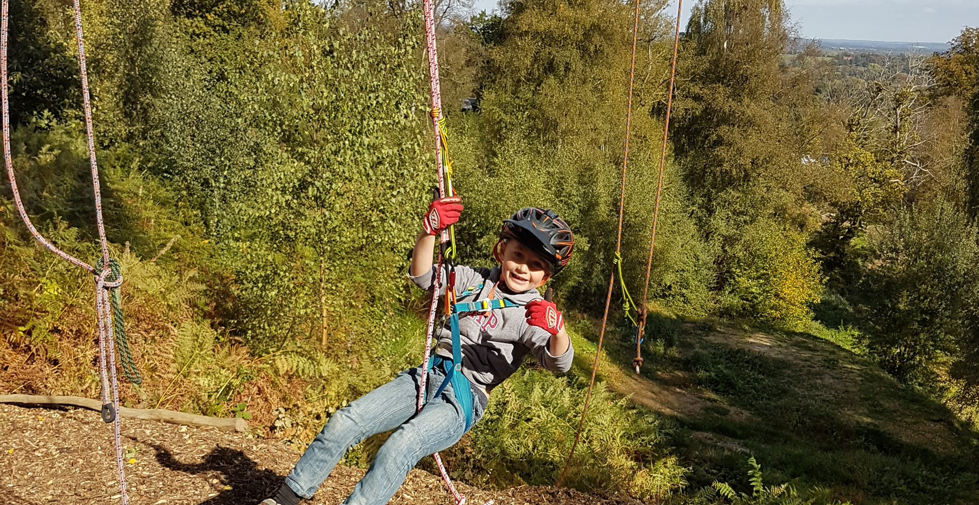 Canopy - Child swinging in harness