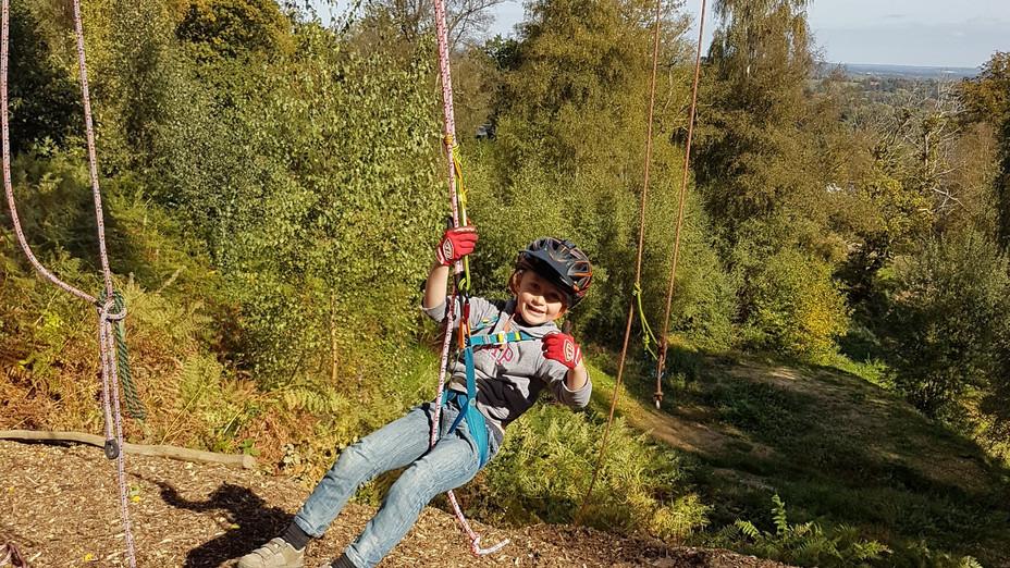 Canopy - Child swinging in harness