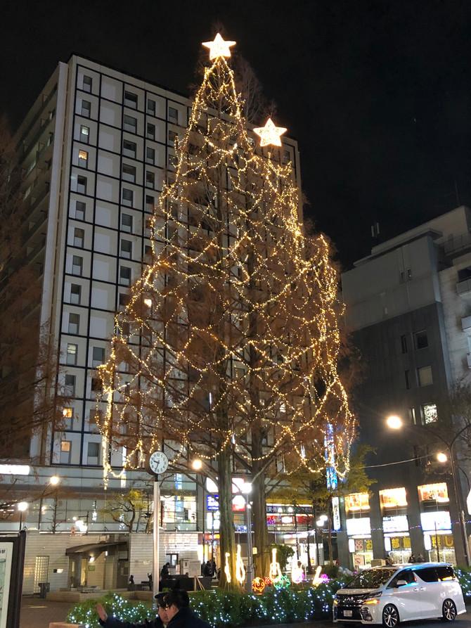 クリスマスイブの阿佐ヶ谷駅