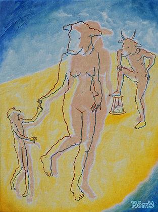 Minotaurin und Kind. Allegorie 1