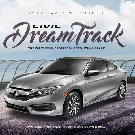 Civic DreamTrack Crowdsourced Social Stunt Track