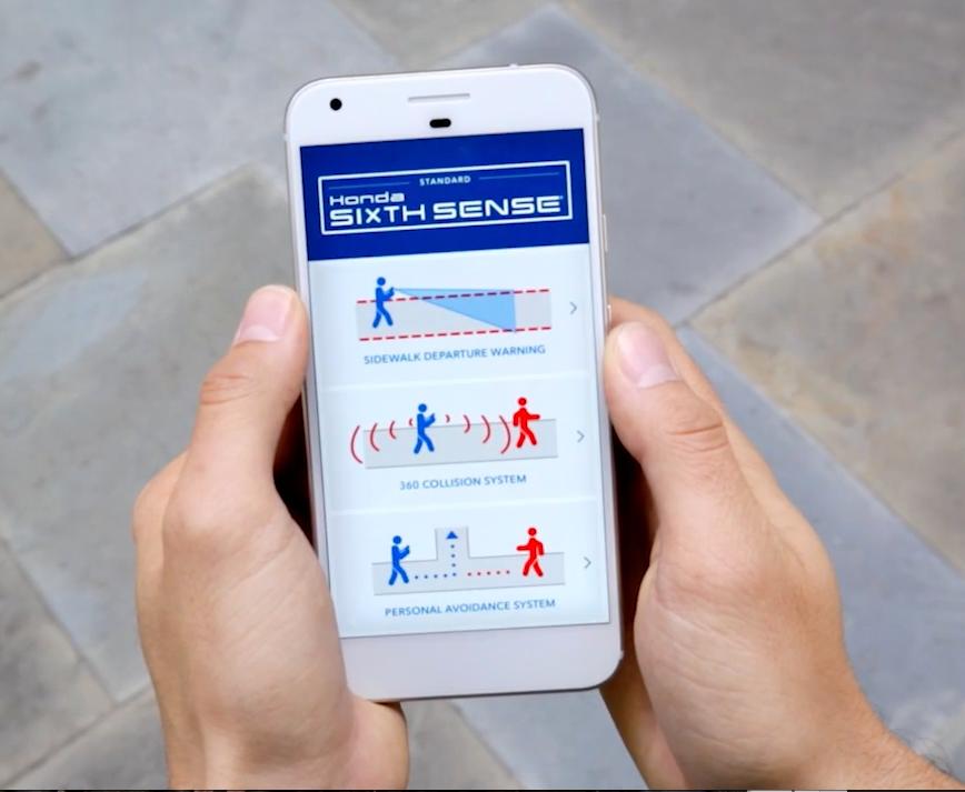 Honda Sixth Sense Texting and Walking April Fools Social Campaign.