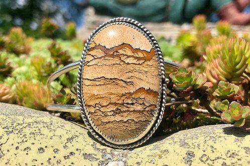 Landscape Jasper Cuff Bracelet