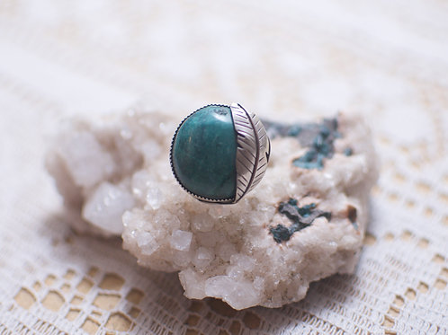 Turquoise Feather Ring Size 5.5