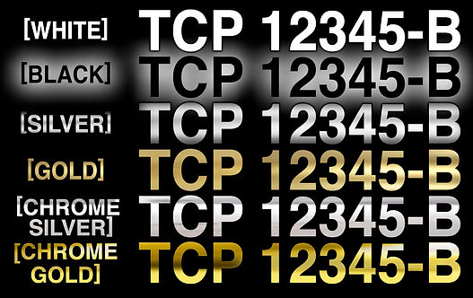 TCP Vinyl Decal Color Options