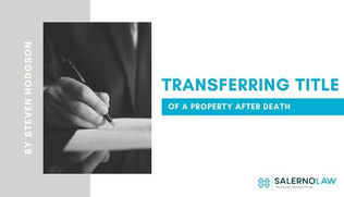 Transferring Title of a Property After Death