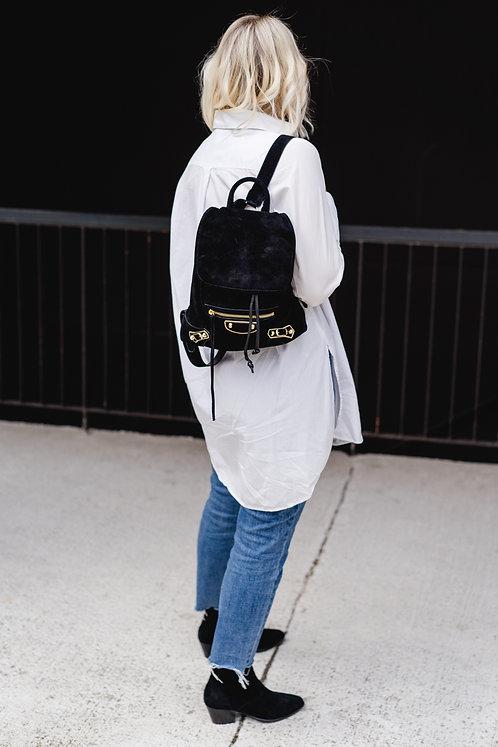 Balenciaga Rucksack aus schwarzem Samt