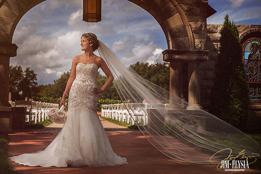 Elegant Bride at chapel