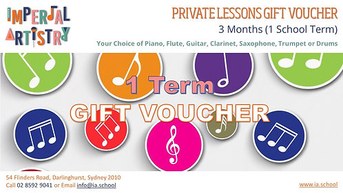 3 Months Private Lessons Gift Voucher
