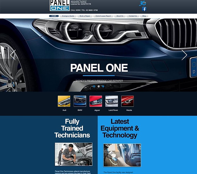 Panel One Website