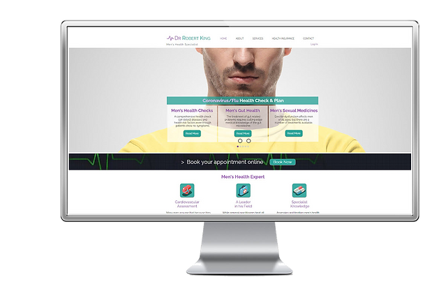 Example of a website for a GP Practice