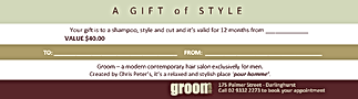 idResults created the Groom Gift Card