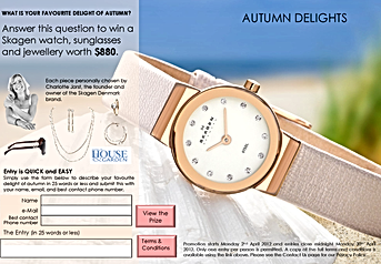 Autumn Delights Consumer Competition Landing Page