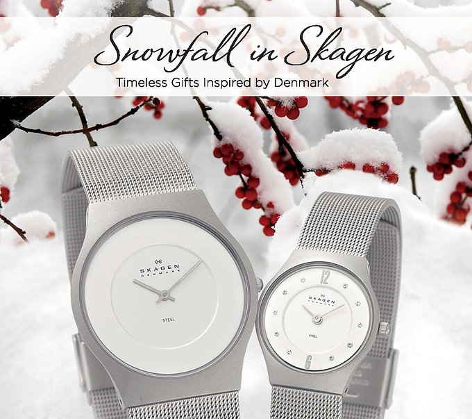 Snowfall in Skagen Advertising Creative