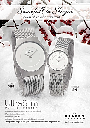Snowfall in Skagen advertising