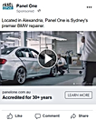 Use link to see example of Panel One advertising on Facebook