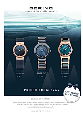 Bering Colours of the Arctic print advertising