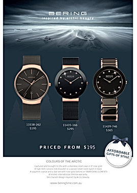 Bering Affordable Gifts of Style print advertising