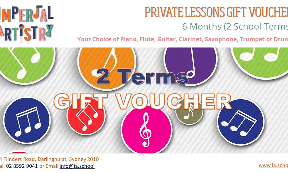 6 Months Private Lessons Gift Voucher