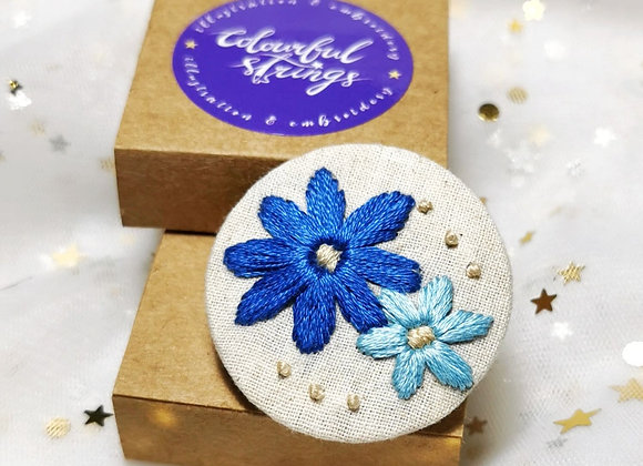 Flower (4.5cm x 4.5cm)(Blue)