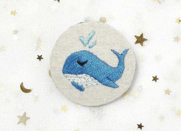 Whale (4.5cm x 4.5cm) (Blue)