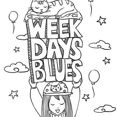 Weekdays Blues cover on ipad