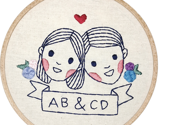 Portrait Embroidery (Type 1, 2 pax)