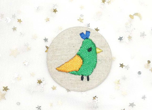 Embroidery Badge Bird (Green & Orange/ Purple & Blue/ Blue & Green...)