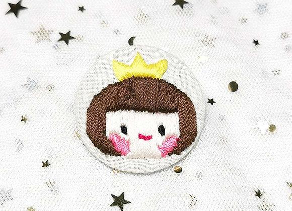 Embroidery Badge Crown Girl (Yellow)