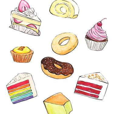 Cakes, Pasteries, Ice Cream