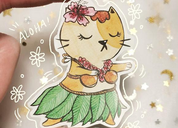 Aloha Cat Sticker