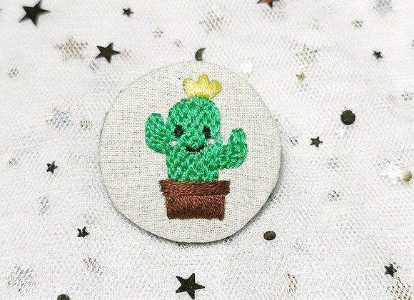 Cactus (4.5cm x 4.5cm) (Yellow/ Purple/ Orange/ Pink)