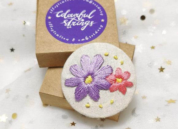 Flower (4.5cm x 4.5cm)(Purple Pink)