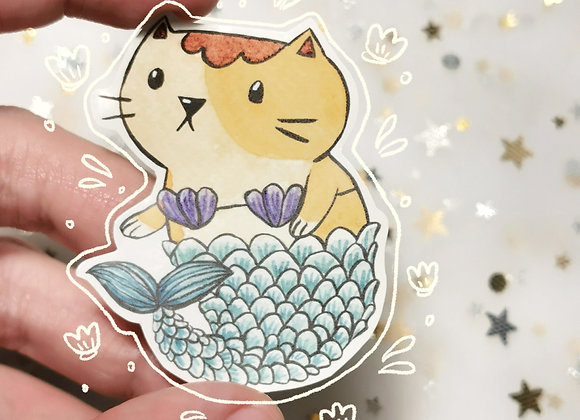 Mermaid Cat Sticker