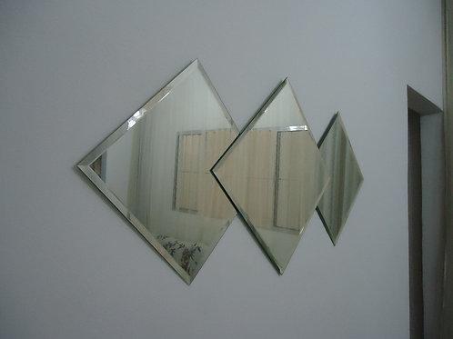 Espelhos com bisote quadrados