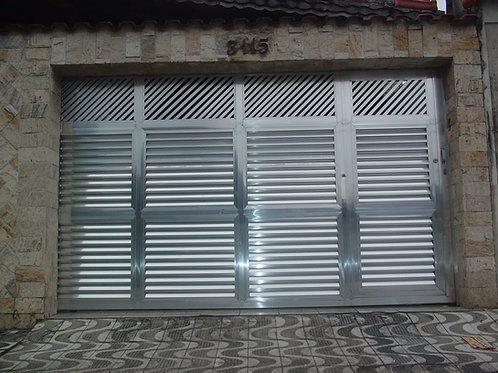 Portão Pivotante palheta veneziana