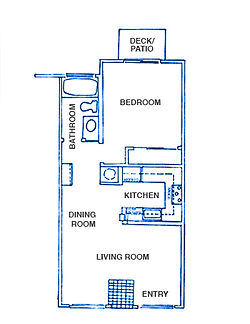 Tideline floor plan, 1 bedroom, 1 bathroom, 565 sq. ft.