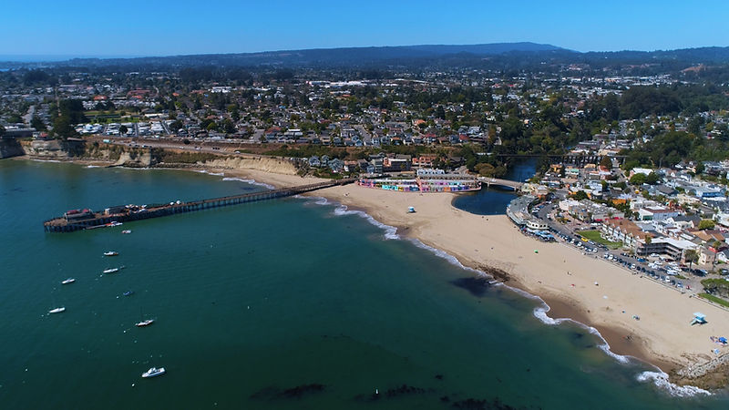Aerial view of Capitola Beach
