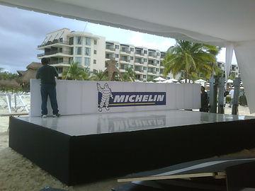 stands cancun, estrado michelin