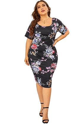 Floral Garden Midi Dress